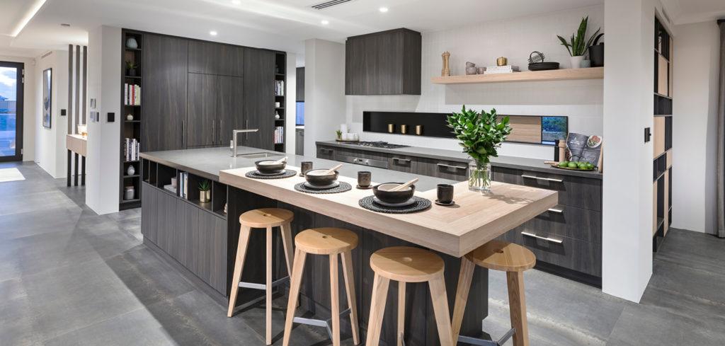 Kitchen splashback white tiles - Black kitchen