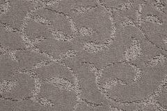 Grey Swirl Design Carpet Flooring Swatch