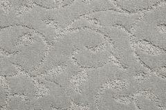 Light Grey Swirl Leaf Design Carpet Flooring