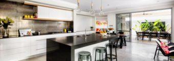 kitchen Splashback metallic - white kitchen