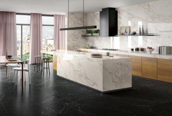 Ergonomic kitchens - Zero.3 porcelain tiles by Panaria