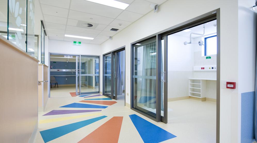 Commercial vinyl sheet for Health centers