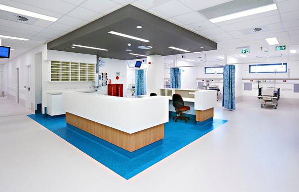 Commercial vinyl sheet for hospitals