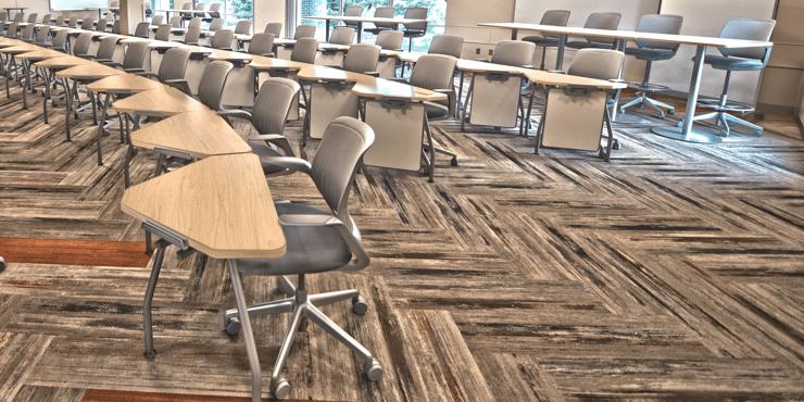Carpet tiles school