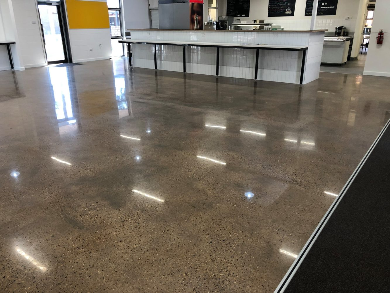 Concrete polishing and grinding - jupps commercial - canteen