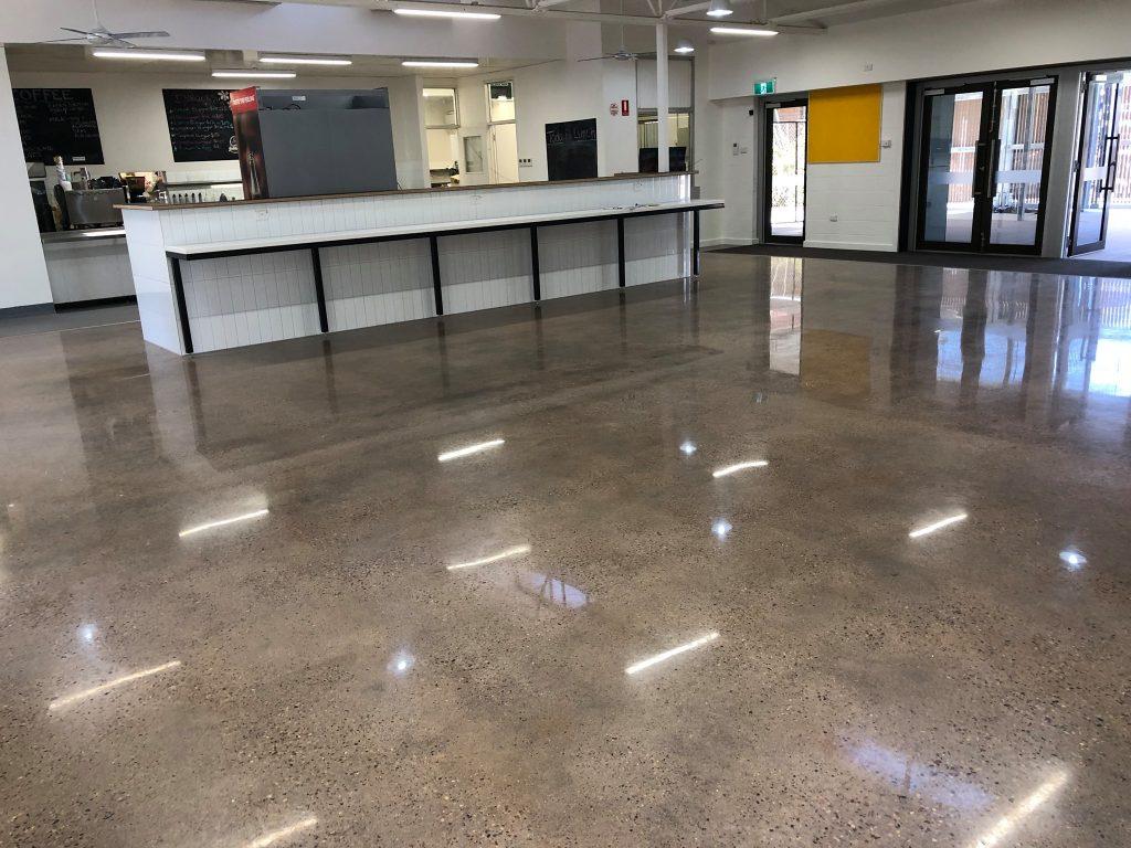 Pundulmurra Tafe Canteen - polished concrete