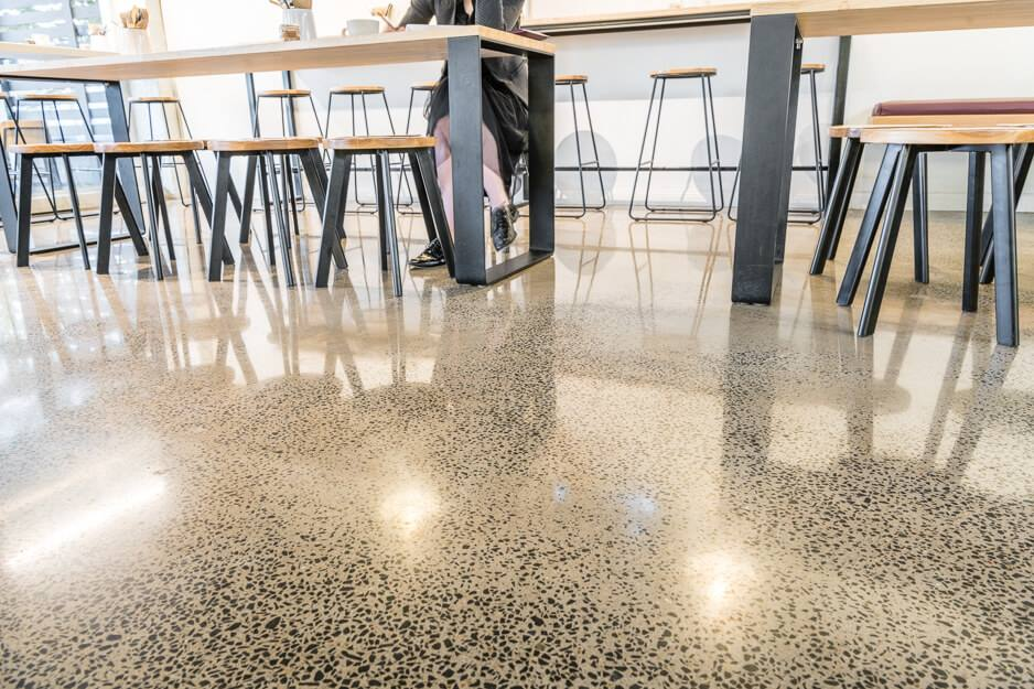 Concrete polishing and grinding - jupps commercial - retail - coffee shop