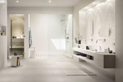 Textured Tiles - White Bathroom