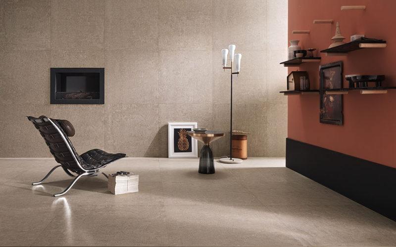 Large Format Tiles - Living Room