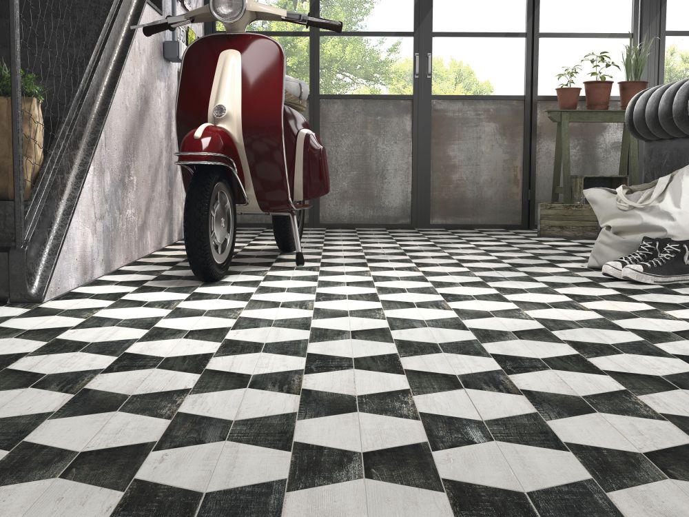 Graphic Tile - Garage Floor