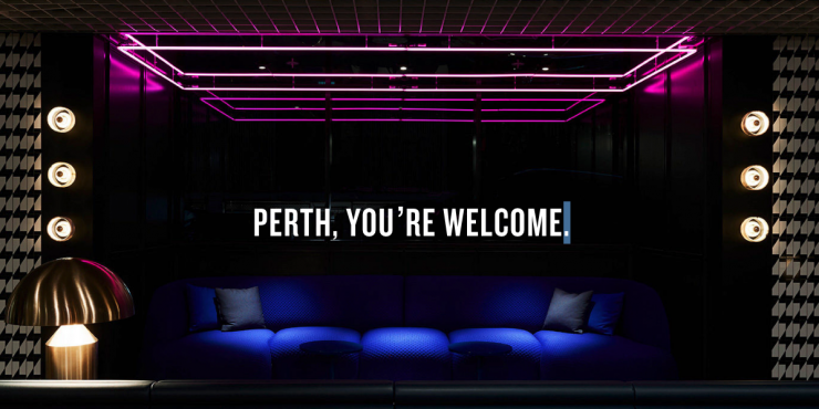 Tribe hotel perth - design trends - neon
