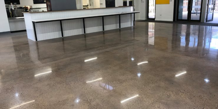 Pundulmurra Tafe Canteen-polished concrete-before