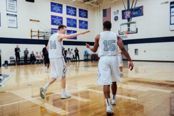 Lino Flooring with Basketball Players