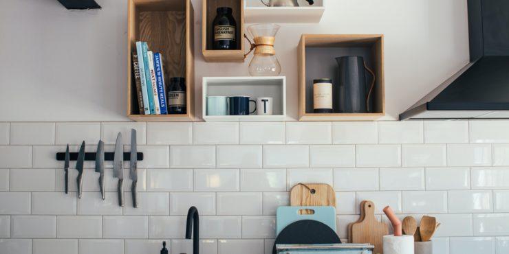 Kitchen Splashback White Tiles